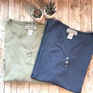 August Max Bundle of 2 Short Sleeve Henley Tees